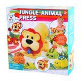 PLAY DOUGH JUNGLE ANIMAL PRESS (5 Colors of Play Dough Included)