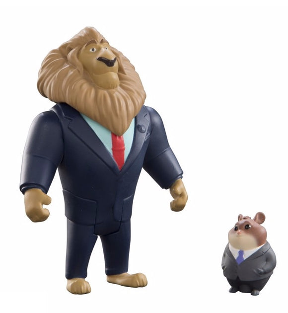 Zootopia Character Pack Mayor Lionheart And Lemming Businessman