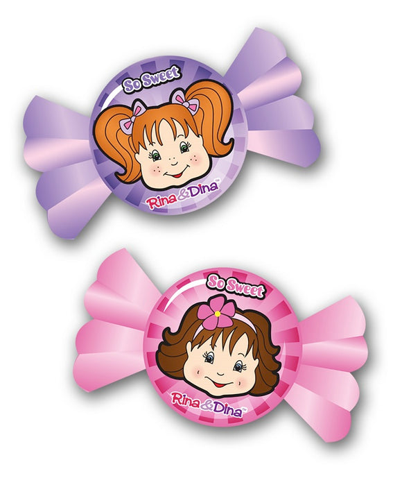 Rina and Dina Candy Face Erasers