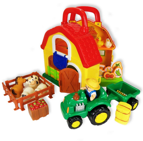 Megcos Toys Carry Along Farmyard Set