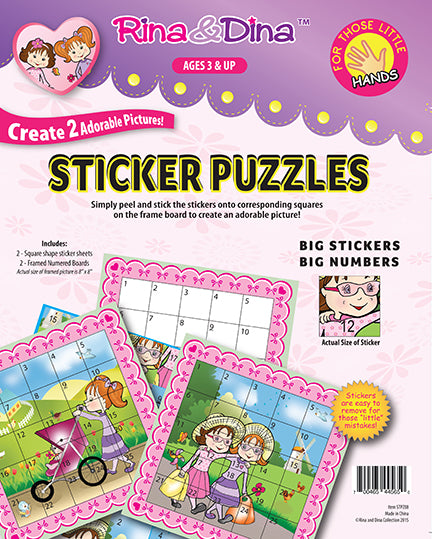 Rina & Dina LITTLE HANDS STICKER PUZZLE (64 pc)