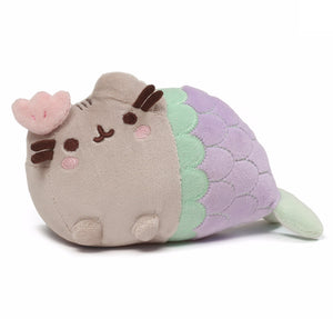 Gund Pusheen Clam Shell Mermaid Stuffed Cat Plush, 7""