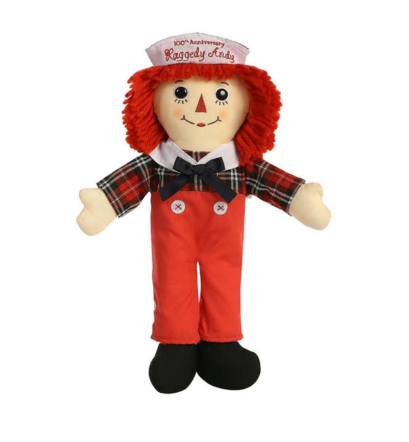 Aurora World Beloved Raggedy Andy 100th Anniversary Doll Plush