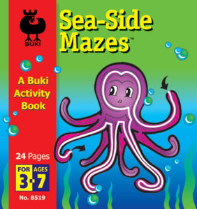 Buki Activity Book Sea Side Mazes