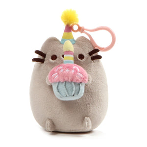 Gund Pusheen Snackable Clip Birthday