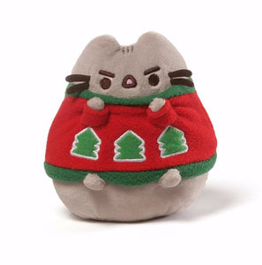 "Gund Pusheen 4.5"" Christmas sweater"