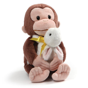 Gund Curious George with Bunny Plush, Multicolor, 10""