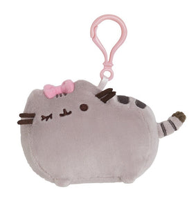 Pusheen Backpack Clip - Bow 4.5""