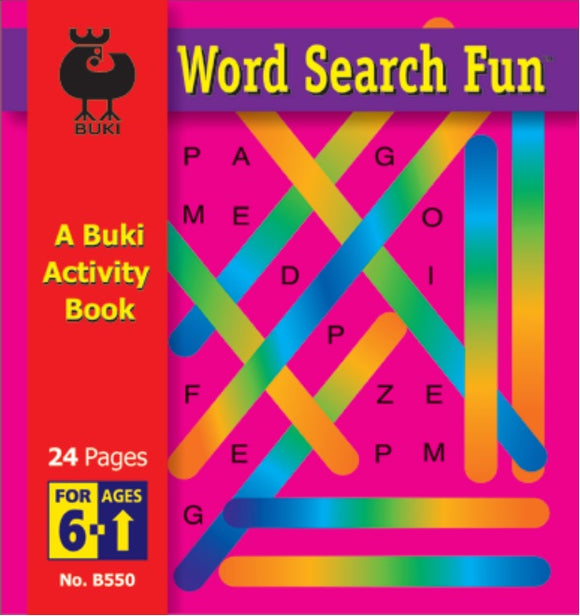 Buki Activity Book Word Search Fun