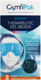 "Reusable Hot Cold Pack Eye Mask : Gel Beads (2) Pack  8.3"" x 4"""