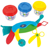 PLAY DOUGH MULTI TOOL (3 Colors of Play Dough Included)