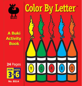 Buki Activity Book Color by Letter
