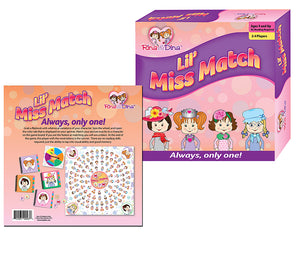 Rina & Dina LIL MISS MATCH Board Game for Girls