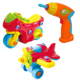 Playgo Junior Mechanic Toys (Airplane Motorcycle and Drill)