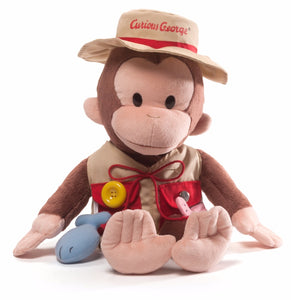 Gund Curious George Teach Me Fisherman Stuffed Toy Plush