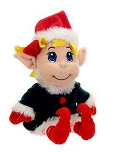 """Fiesta Toys 11"""" Plush Santa's Secret Elf Girl"""