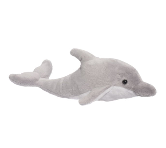 Douglas Cuddle Toys SURF GRAY DOLPHIN