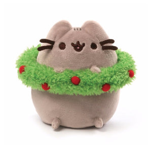 "Gund Pusheen 4.5"" Christmas wreath"