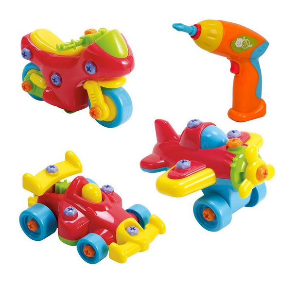 Playgo Junior Mechanic Toys (Motorbike, Racer, Plane)