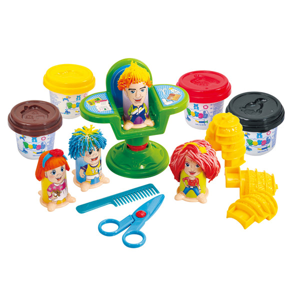 PLAY DOUGH HAIRDRESSER (4 Colors of Play Dough Included)
