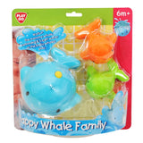 HAPPY WHALE FAMILY SQUIRT BATH TOY