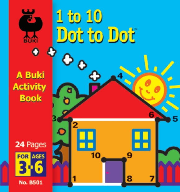 Buki Activity Book 1 to 10 Dot To Dot