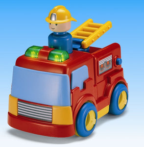 Megcos Toys Press 'N' Go Emergency Fire Truck ~NEW~
