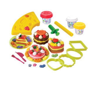 PLAY DOUGH CAKE SET (3 Colors of Play Dough Included)