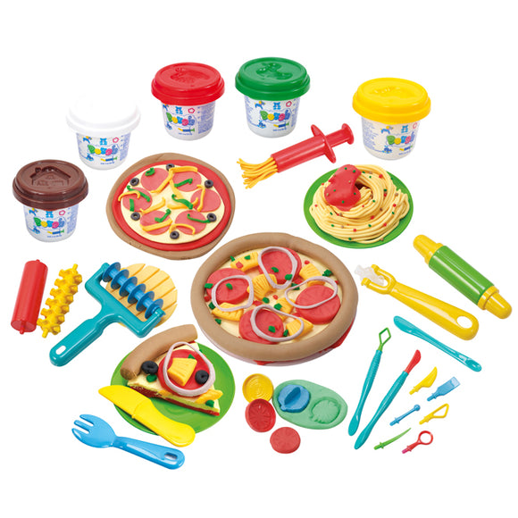 PLAY DOUGH MY OWN PIZZERIA (5 Colors of Play Dough Included)