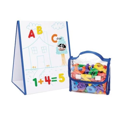 EduKid Toys Tabletop Magnetic Easel & Whiteboard With 72 Letters Boxed