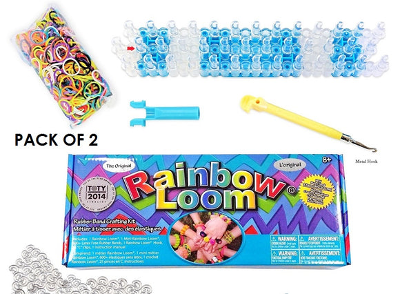 Rainbow Loom Bands Crafting Kit with Metal Hook 2-Pack