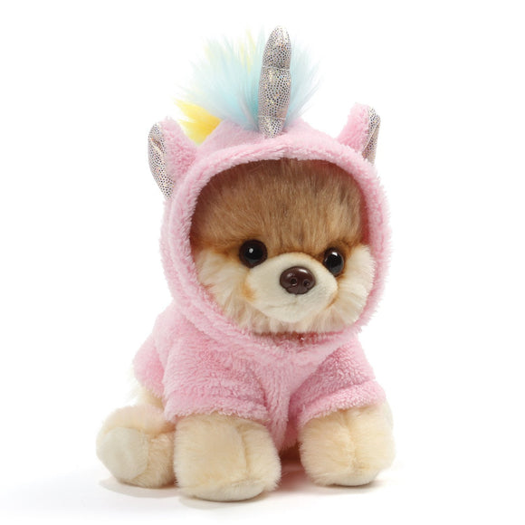 "Gund World's Cutest Dog Itty Bitty Boo #44 Unicorn Plush, 5"" Toy, Pink"