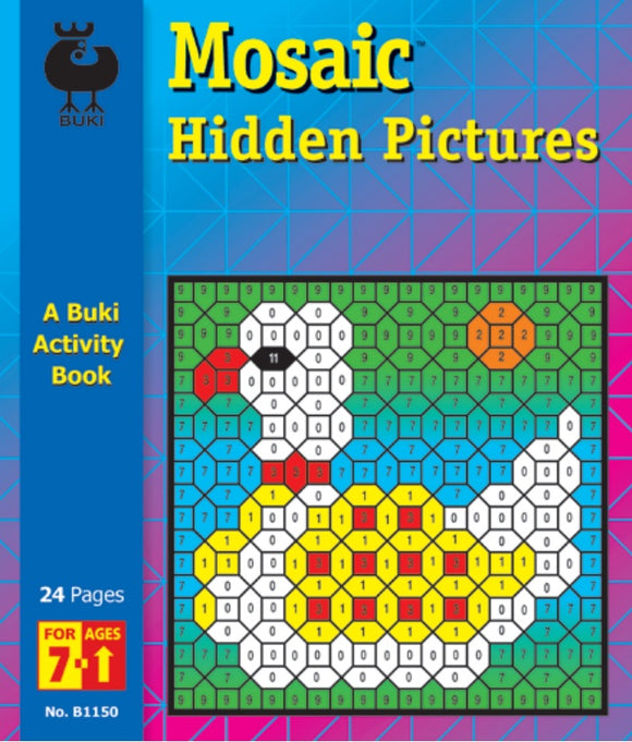 Buki Activity Book Mosaic Hidden Pictures 2