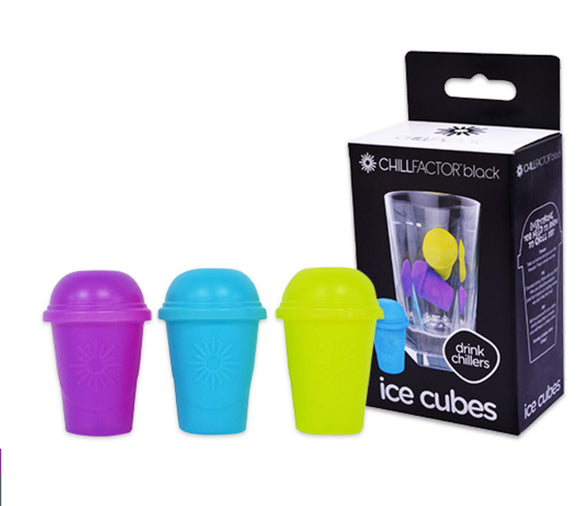 Chill Factor ICE CUBES Three Drink Chillers