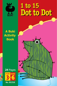 Buki Activity Book 1 to 15 Dot to Dot