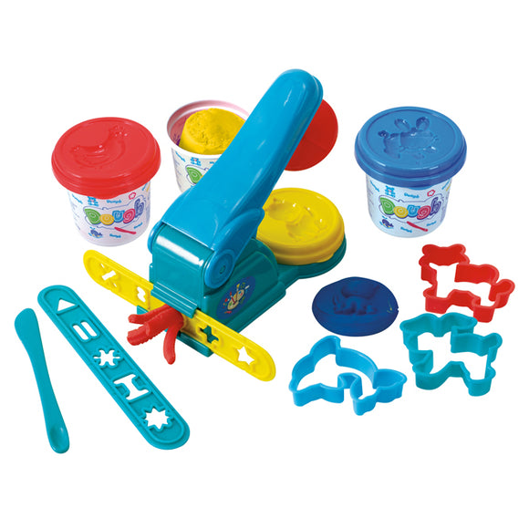 PLAY DOUGH PRESS (3 Colors of Play Dough Included)