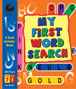 Buki Activity Book My First Word Search