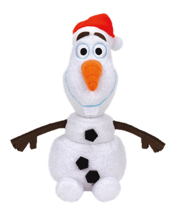 TY Beanie Baby - OLAF the Snowman with SANTA HAT (Disney Frozen)