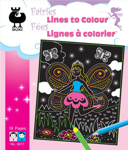 Buki Large Activity Book LINES TO COLOR