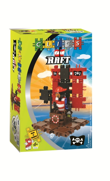 CLICS Building Toy Pirate RAFT Set 44 pieces