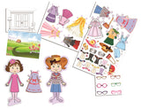 Rina & Dina DRESS UP FUN PAPER DOLL Playset