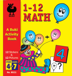 Buki Activity Book Sticker Fun Math