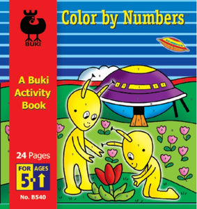 Buki Activity Book Color by Numbers