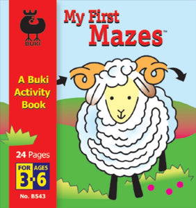 Buki Activity Book My First Mazes