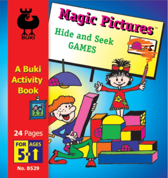 Buki Activity Book Magic Pictures Hide & Seek Games