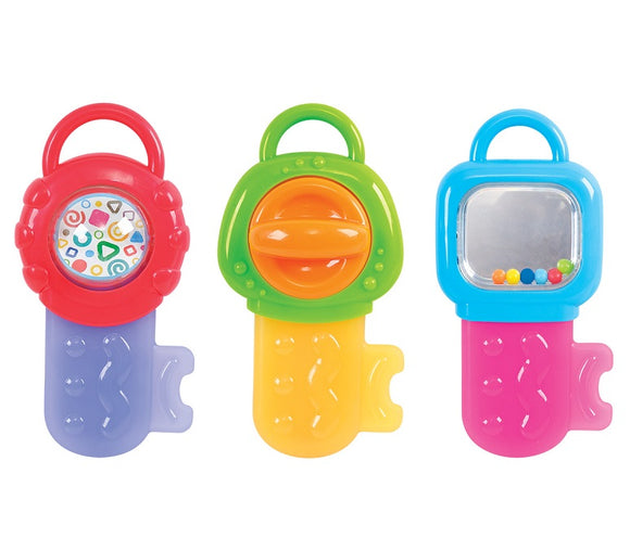 PlayGo BABY TEETHING KEYS (Colors may vary)
