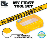My First Tool Set in Sturdy Carry Case | Toolbox for Pretend Play | Safe Tool Set for Kids Toddlers