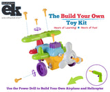 EduKid Toys EASY BUILD & PLAY POWER TOOL SET, AIRPLANE & HELICOPTER
