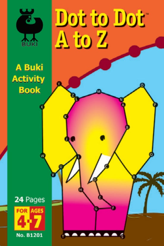 Buki Activity Book Dot to Dot A To Z
