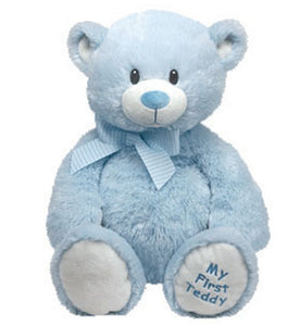 TY Classic Plush Pluffie - SWEET BABY the Bear (Blue - 15 inch)